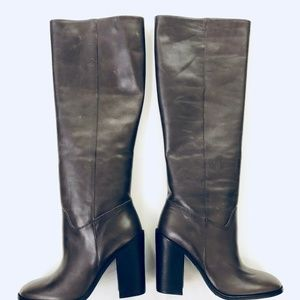 All Saints Shoes - NEW All Saints Gray Leather Boots 39.5 (US 8.5)